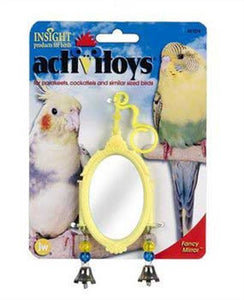 JW Pet Company Activitoy Fancy Mirror Small Bird Toy, Colors Vary