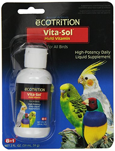 Ecotrition Vita-Sol High Potency Multi-Vitamin Bird Supplement, 2-Ounce (D372)
