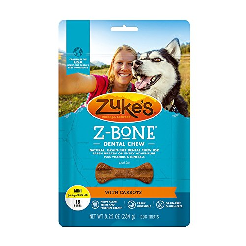 Zukes Z?bone Clean Carrot Dental Chews, Mini Bones ? 18 count