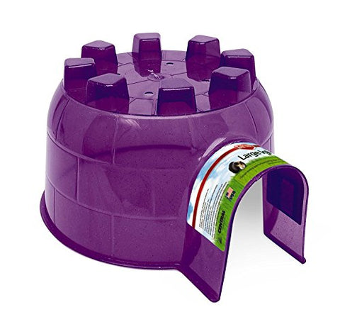 "(2 Pack) Kaytee Igloo Hideout, 12""L X 10.5""W X 6.25""H (Colors May Vary)"