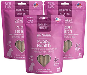 Get Naked Grain Free Puppy Health Dental Chew Sticks (3 pack)