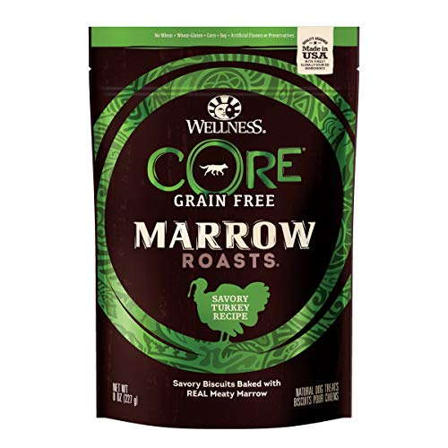 Wellness Core Marrow Roasts Natural Grain Free Dog Treats, 8-Ounce Bag
