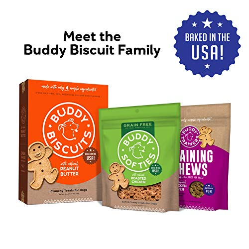 Buddy Biscuits Grain Free Soft & Chewy Healthy Dog Treats, Low Calorie