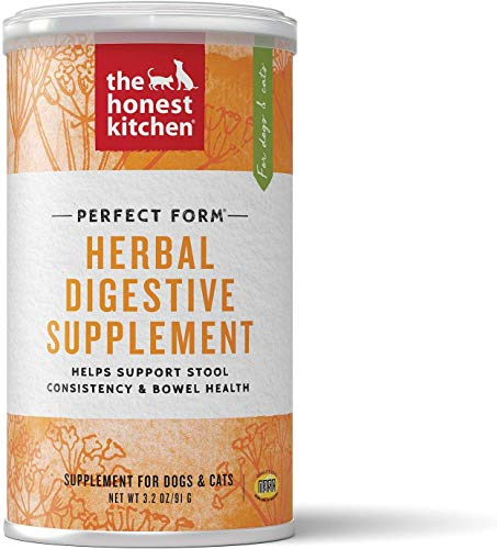 Honest Kitchen The Herbal Digestive Supplement Pet Food for Cats and Dogs (1 Count), 3.2 oz