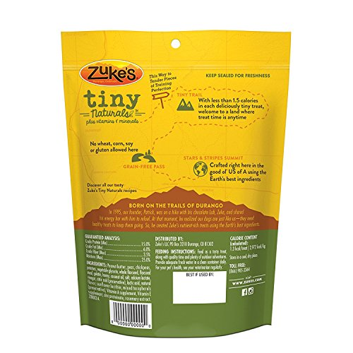 Zuke's Tiny Naturals Dog Treats, Peanut Butter, 5 oz. (2 Pack)