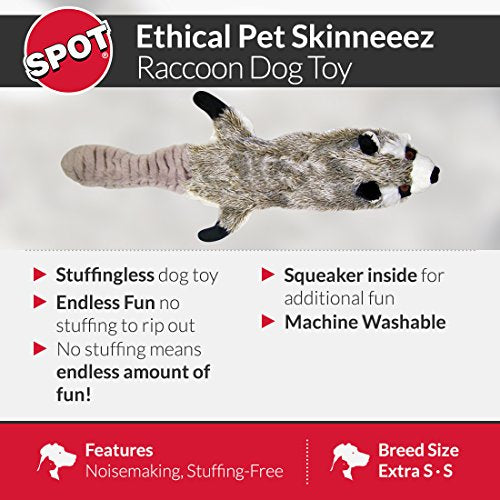 SPOT Mini Skinneeez | Stuffless Dog Toy with Squeaker For All Dogs | Tug-Of-War Toy For Small and Large Breeds | 14"
