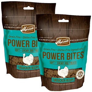 Merrick Grain Free Gluten Free Power Bites Dog Treats, 6 oz
