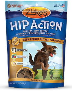 Zuke's Hip Action Natural Dog Treats Peanut Butter 1 Pound by Zuke's