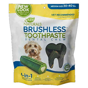 ARK NATURALS (3 Pack) Breath-Less Chewable Brushless Toothpaste, Medium/Large - 18oz Bags