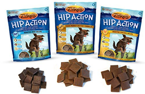 Zukes, Hip Action, Dog Treats, Economy Variety 3Pack (1 Pound of Each Flavor)