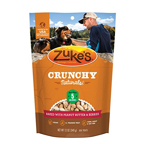 Zuke'S Crunchy Naturals 5S Baked With Peanut Butter & Berries Dog Treats - 12 Oz. Pouch
