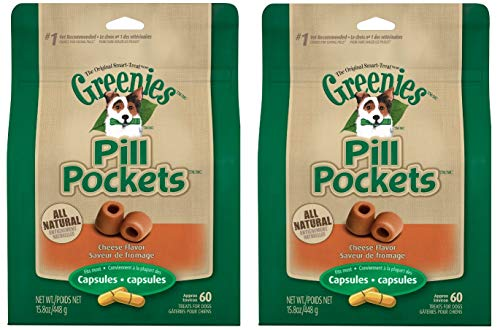Greenies Pill Pockets Treats for Dogs 15.8oz Value Packs (2-Pack Cheese)