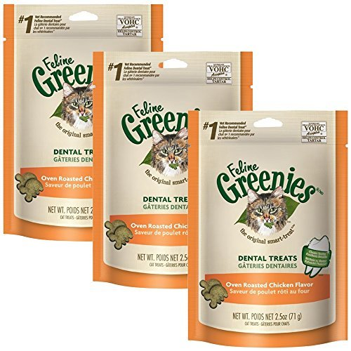 Greenies Feline Dental Treats Oven Roasted Chicken Flavor (22.5 oz)