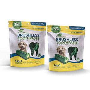 ARK NATURALS Brushless Toothpaste, Vet Recommended Natural Dental Chews for Dogs, Plaque, Tartar and Bacteria Control (2 Pack)