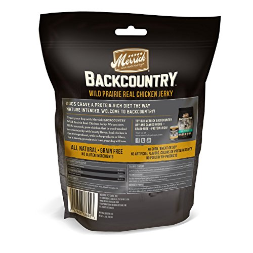 Merrick Backcountry Wild Fields Real Chicken Jerky Grain Free Dog Treats, 4.5 Oz.