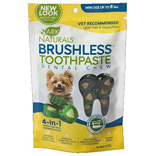 Ark Natural Brushless Toothpaste Chews, Mini, 4 Ounce
