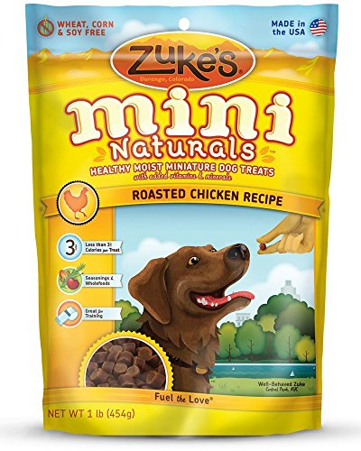 Zuke's Mini Naturals Savory Salmon Recipe Dog Treats (Chicken, 16 oz. Pouch - 2 Pack)