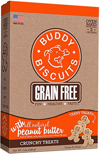 BUDDY BISCUITS Oven-Baked, Grain-Free Crunchy Treats for Dogs