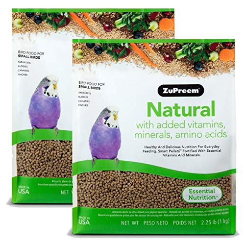 ZuPreem Natural with Added Vitamins, Minerals, Amino Acids Small Bird Food, 4.50 lb.