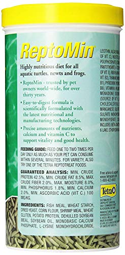 Tetra ReptoMin Floating Food Sticks for Aquatic Turtles/Newts/Frogs, 10.59-Ounce - Pack of 2