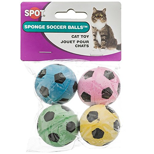 Ethical Sponge Soccer Balls Cat Toy, 8-Count