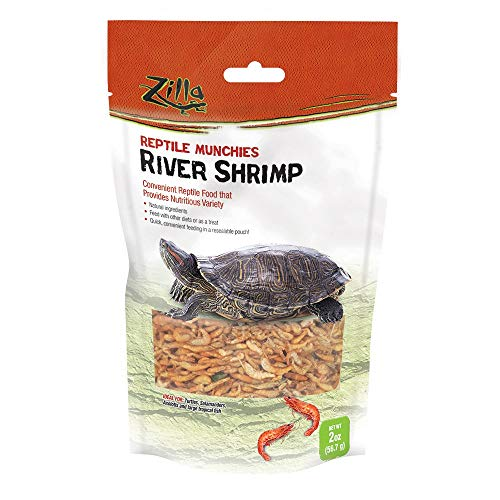 Zilla Reptile Food Munchies River Shrimp, 4-Ounce