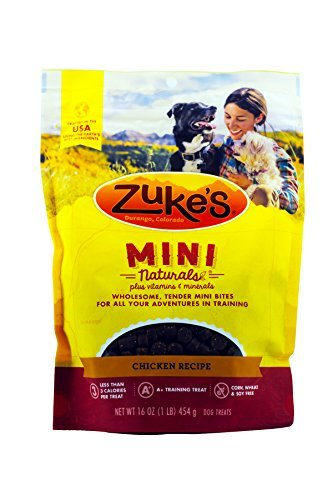 Zuke's Mini Naturals Dog Treats(2 Packs, totally 2 Pound)