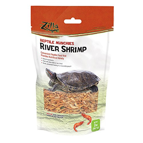 Zilla Reptile Food Munchies River Shrimp, 2-Ounce