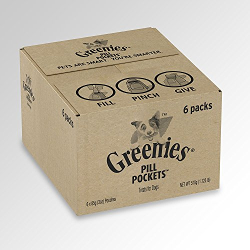 GREENIES Pill Pockets Natural Dog Treats, Capsule Size, Duck & Pea Flavor (Pack of 6)