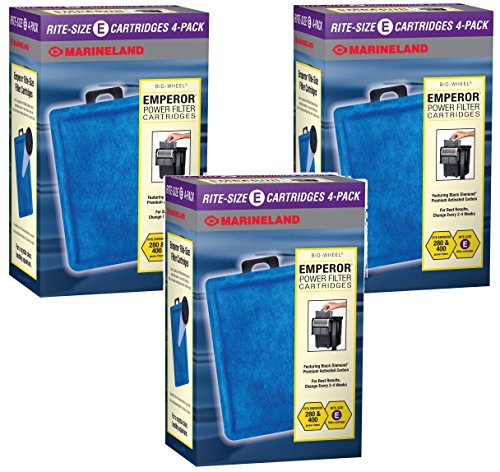 Marineland Rite-Size Cartridge E -12 Total Cartridges (3 Packs with 4 per Pack)