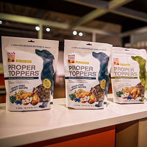 Honest Kitchen Proper Toppers: Natural Human Grade Dehydrated Dog Superfood Grain Free Turkey