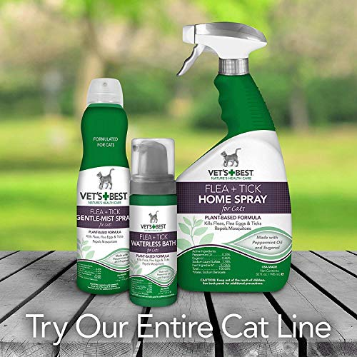 Vet's Best Flea & Tick Waterless Bath Cats, 10 FZ