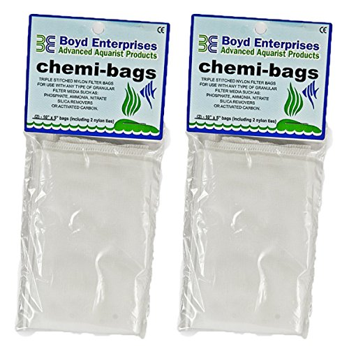 Boyd Enterprises ABE16720 2-Pack Chemi-Bags with Ties for Aquarium