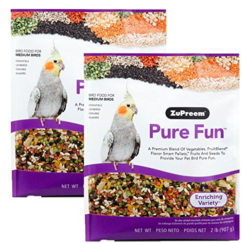ZuPreem Pure Fun Bird Food, Available for Various Sizes (4LBS)
