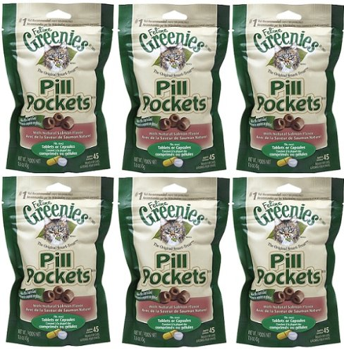 Greenies Salmon Cat Pill Pockets 9.6 oz (6x1.6 oz Bags)