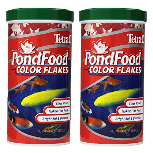TetraPond 77021 Pond Flaked Color Food, 6-Ounce, 1-Liter
