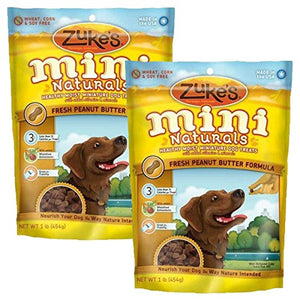 Zuke's Mini Naturals Dog Treats Peanut Butter 2 lb