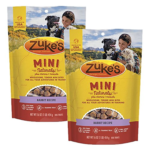 Zuke's Mini Naturals Dog Treats, RABIT, 16 oz. Pouch - 2 Pack