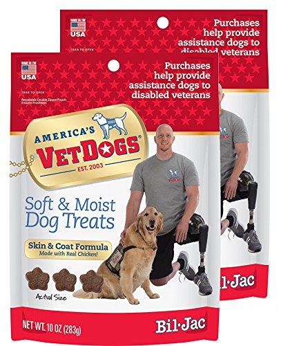 Bil-Jac VetDogs Skin & Coat Soft Treats 10 oz, 2 Pack