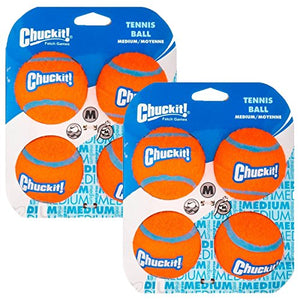 Chuckit! Tennis Ball, Medium, 8-Pack