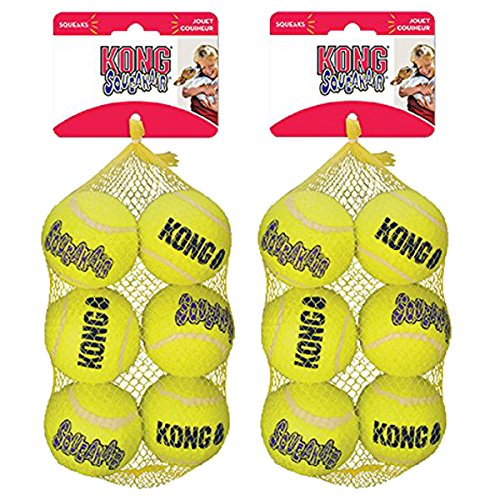 KONG Squeak Air Balls Dog Toy (12 Pack), Medium