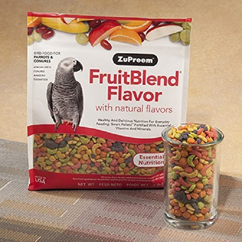 ZuPreem FruitBlend Parrot Conure Medium Large 3.5 LB-2 Pk