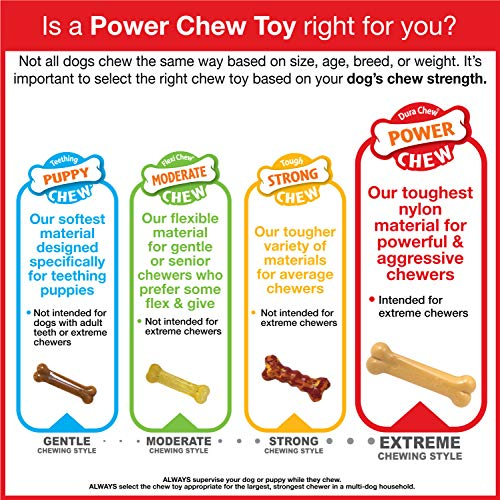Nylabone Classic Power Chew Flavored Durable Dog Chew Toy, Original, 1 Count, Giant
