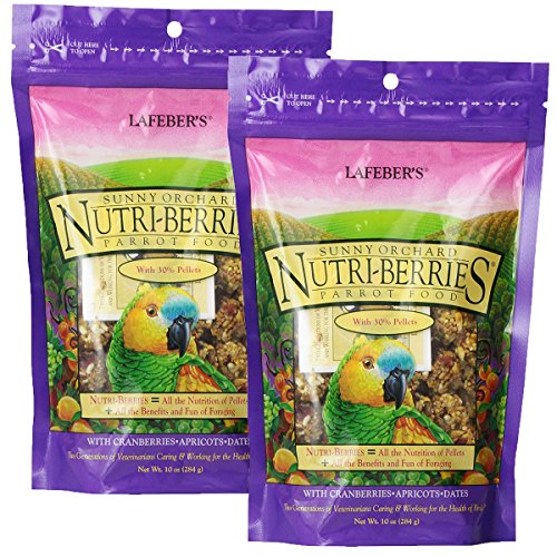 Lafeber's Gourmet Sunny Orchard Nutri-Berries for Parrots 10 oz bag (2 Pack)