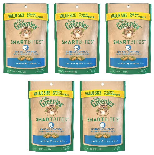 Greenies Smartbites Hairball Control Tuna 23oz (5 x 4.6oz)