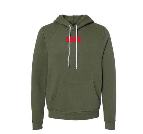 BeardedKingz Retro Bubble Soft Hoodie  (unisex cut) Military Green