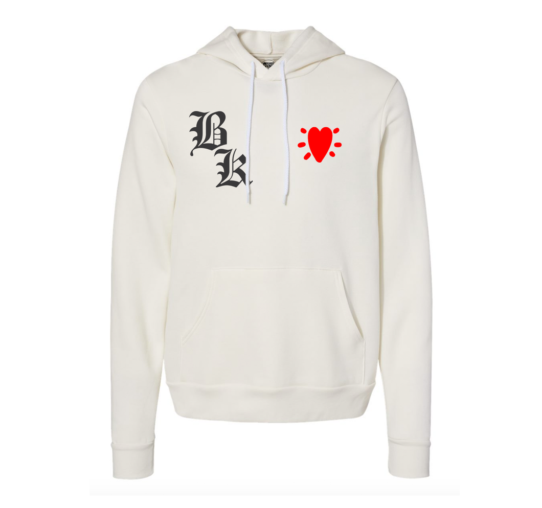 King of Heartz  Soft Hoodie  (unisex cut) Vintage White