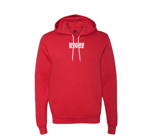 BeardedKingz Retro Bubble Soft Hoodie  (unisex cut) Red