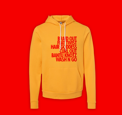 Hair Goddess Soft Hoodie Gold  (unisex cut)