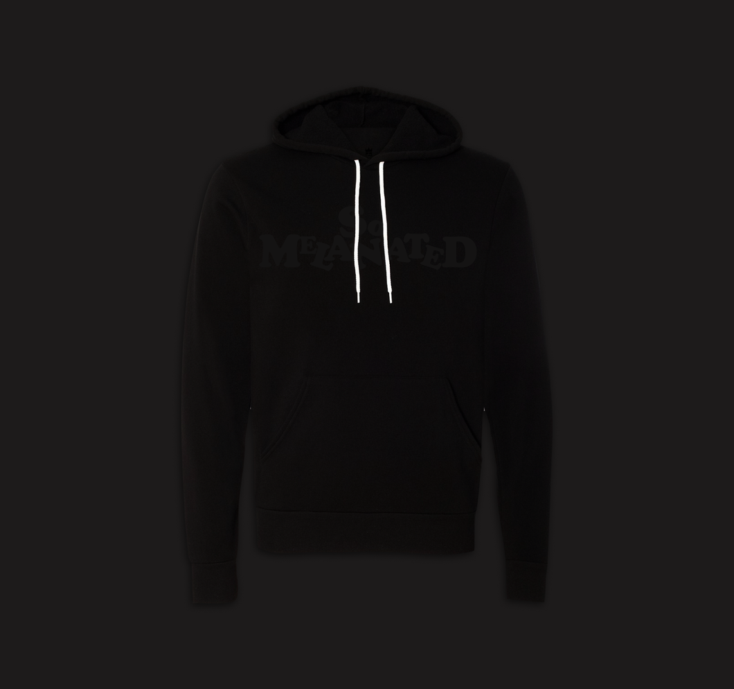 Black on Black Soft Hoodie  (unisex cut)